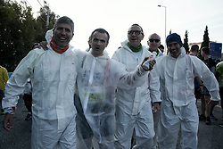 November 11, 2018 - Athens, Greece - Athletes are seen before the beginning of the Athens Marathon, The Authentic. (Credit Image: © Giorgos Zachos/SOPA Images via ZUMA Wire)