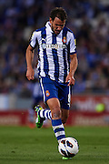 BARCELONA, SPAIN - MAY 11: Cristhian Ricardo Stuani of RCD Espanyol in action during the Liga BBVA between RCD Espanyol and Real Madrid CF at the Cornella-El Prat Stadium on May 11, 2013 in Barcelona, Spain. (Photo by Aitor Alcalde Colomer).