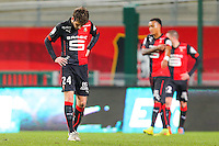 Deception Sanjin PRCIC  - 25.01.2015 - Rennes / Caen  - 22eme journee de Ligue1<br /> Photo : Vincent Michel / Icon Sport *** Local Caption ***