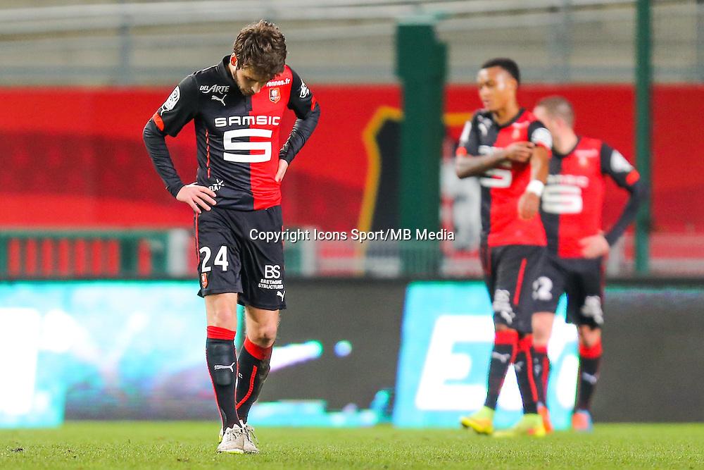 Deception Sanjin PRCIC  - 25.01.2015 - Rennes / Caen  - 22eme journee de Ligue1<br /> Photo : Vincent Michel / Icon Sport *** Local Caption ***