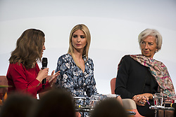 April 25, 2017 - Berlin, Germany - Managing Director of the International Monetary Fund (IMF) Christine Lagarde (R), Daughter of US President Ivanka Trump (C) and Canada's Minister for Foreign Affairs Chrystia Freeland (L) attend the Woman 20 Summit in Berlin, Germany on April 25, 2017. The event, which is connected to the G20 under the German leadership is dedicated to Women's Economic Empowerment and Entrepreneurship. (Credit Image: © Emmanuele Contini/NurPhoto via ZUMA Press)