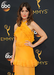 Mandy Moore at the 68th Annual Primetime Emmy Awards held at the Microsoft Theater in Los Angeles, USA on September 18, 2016.