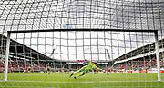 Teun Koopmeiners of AZ Alkmaar scores his side's first goal to make it 1-0