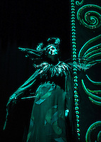 "Ursula Boutwell as ""Carabosse"" during dress rehearsal for Sleeping Beauty at the Winnipesaukee Playhouse Tuesday afternoon.  (Karen Bobotas/for the Laconia Daily Sun)"