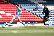 Blackburn Rovers midfielder Joseph Rankin-Costello in action during the EFL Sky Bet Championship match between Blackburn Rovers and Bristol City at Ewood Park, Blackburn, England on 20 June 2020.