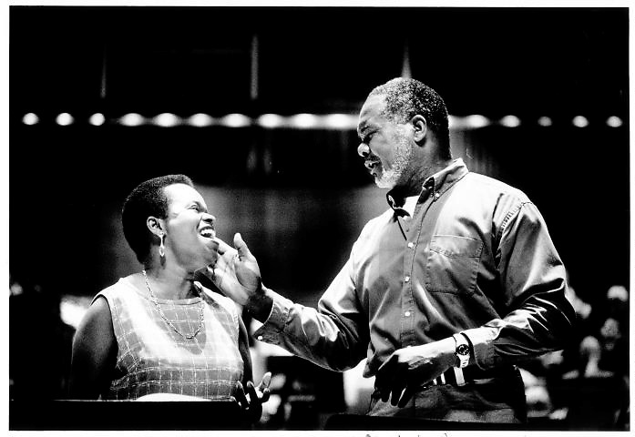 "Maureen Brathwaite (soprano) and Willard White (Bass) in ""Porgy and Bess"" by Gershwin at the Royal Festival Hall.."