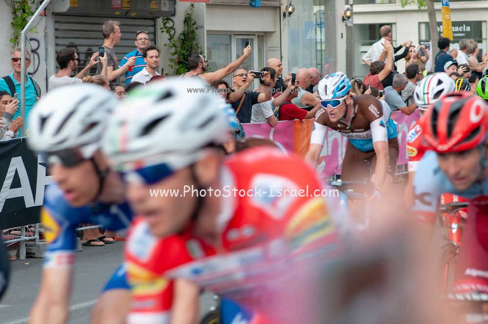 """""""Big Start"""" Israel Stage 2 of the Giro d'Italia, from Haifa to Tel Aviv (167Km), Photographed in Jaffa 500 Meters before the finish line, 5th May 2018"""