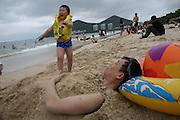 Dong Hai Beach in Sanya town