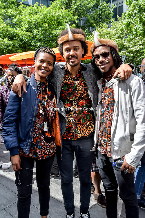 Otto And The Mutapa Calling perfroms at Pop Up Africa returns to Spitalfields E1 on Bank Holiday Monday 27th May 2019 to host Africa at Spitalfields with African fashion, jewellery, craft, live DJ, kids zone, food at Spitalfields Market, London, UK.