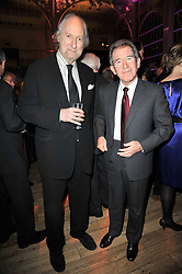 Left to right, ED VICTOR and LORD BROWNE former head of BP at the annual Orion Publishing Group's Author party held in the Paul Hamlyn Hall, The Royal Opera House, Covent Garden, London on 15th February 2011.