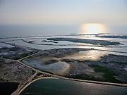 Nederland, Flevoland, Markermeer, 26-08-2019; Marker Wadden in het Markermeer. Overzicht van de archipel, gezien naar de haven (in het westen).<br /> Doel van het project van Natuurmonumenten en Rijkswaterstaat is natuurherstel, met name verbetering van de ecologie in het gebied, in het bijzonder de kwaliteit van bodem en water<br /> Naast het hoofdeiland is er inmiddels een tweede eiland in wording, de uiteindelijk Marker Wadden archipel zal uit vijf eilanden bestaan. <br /> Marker Wadden, artifial islands. The aim of the project is to restore the ecology in the area, in particular the quality of soil and water.<br /> The first phase of the construction, the main island, is finished. <br /> <br /> luchtfoto (toeslag op standard tarieven);<br /> aerial photo (additional fee required);<br /> copyright foto/photo Siebe Swart