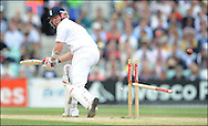 Ian Bell of England is bowled by Ntini on the final day day of the fourth Test at the Oval on the 11th of August 2008..England v South Africa.Photo by Philip Brown.www.philipbrownphotos.com