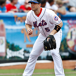 March 6, 2011; Port St. Lucie, FL, USA; New York Mets third baseman David Wright (5) during a spring training exhibition game against the Boston Red Sox at Digital Domain Park. The Mets defeated the Red Sox 6-5.  Mandatory Credit: Derick E. Hingle