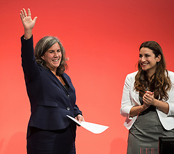 © Licensed to London News Pictures . 30/09/2015 . Brighton , UK . HEIDI ALEXANDER (l) waves after speaking to the conference . The 2015 Labour Party Conference . Photo credit : Joel Goodman/LNP