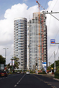 Israel, Tel Aviv, The Yoo skyscraper project, is being built with apartments designed by Philippe Starck. Sep 23, 2008.  .