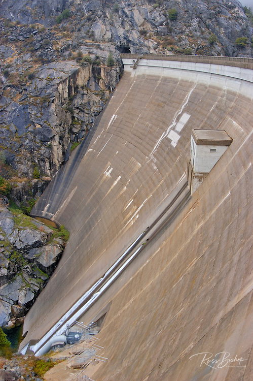 The O'Shaughnessy Dam at Hetch Hetchy, Yosemite National Park, California