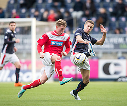 Brechin City&rsquo;s Ryan Ferguson and Falkirk's Will Vaulks.<br /> Falkirk 2 v 1 Brechin City, Scottish Cup fifth round game played today at The Falkirk Stadium.