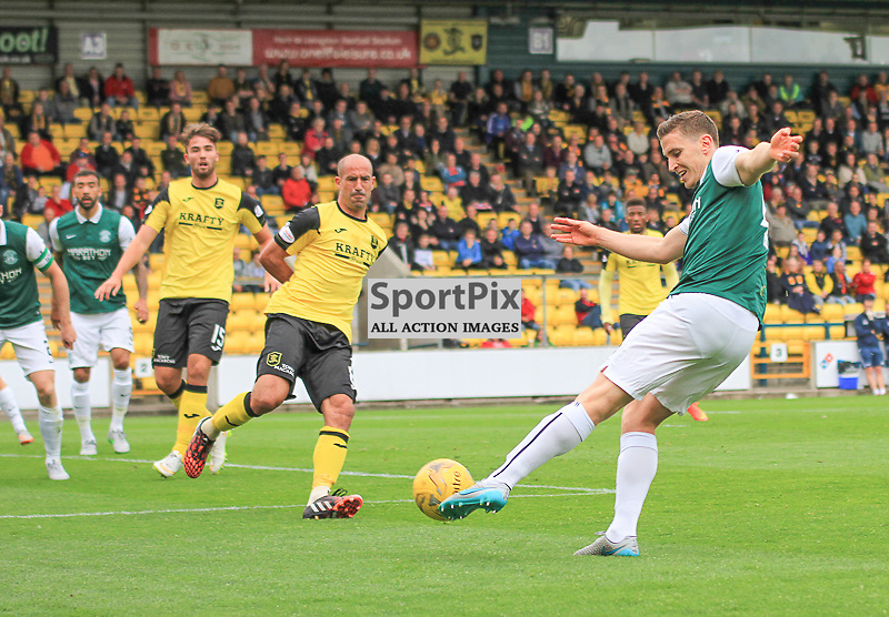 Livingston v Hibernian Scottish Championship 19 September 2015; Hibernian's Paul Hanlon during the Livingston v Hibernian Ladbrokes Championship match played at Almondvale Stadium, Livingston;