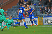 GOAL Ian Henderson scores his 100th goal for Rochdale to make it 2-0 during the The FA Cup 1st round match between Rochdale and Gateshead at Spotland, Rochdale, England on 10 November 2018.