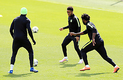 Raheem Sterling of Manchester City trains with his team mates - Mandatory byline: Matt McNulty/JMP - 25/04/2016 - FOOTBALL - City Football Academy - Manchester, England - Manchester City v Real Madrid - UEFA Champions League Training Session