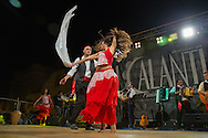 I Calanti in exhibition dancing the Pizzica or Taranta in a street festival
