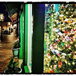 "Christmas on Market Street, Portsmouth, New Hampshire. iPhone photo - file size is adequate for print reproduction up to 8"" x 12""."