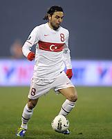 Fussball International, Nationalmannschaft   EURO 2012 Play Off, Qualifikation, Kroatien - Tuerkei       15.11.2011 Selcuk Inan (Tuerkei)