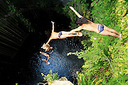 Orlando duque at the cenotes in Can Cun