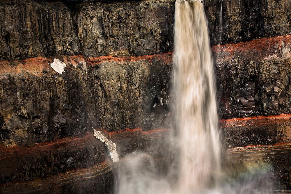 Hengifoss waterfall. Iceland