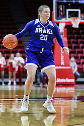 NORMAL, IL - January 06: Maddy Dean during a college women's basketball game between the ISU Redbirds and the Drake Bulldogs on January 06 2019 at Redbird Arena in Normal, IL. (Photo by Alan Look)