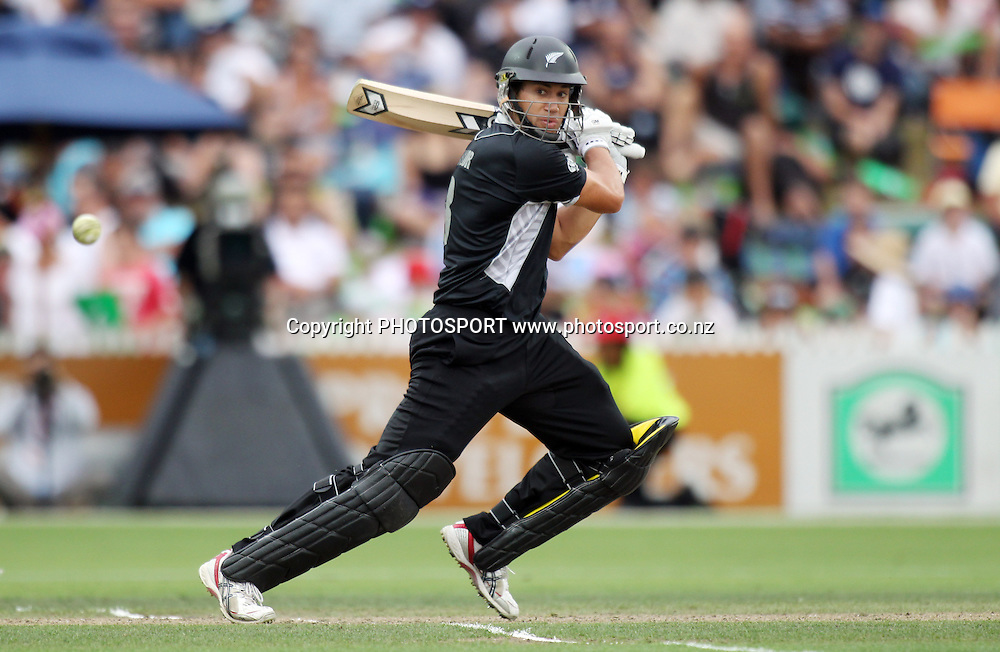 Ross Taylor batting.<br />