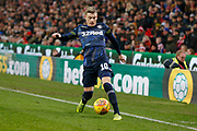 Leeds United midfielder Ezgjan Alioski (10)  during the EFL Sky Bet Championship match between Stoke City and Leeds United at the Bet365 Stadium, Stoke-on-Trent, England on 19 January 2019.