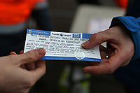 Football - 2017 / 2018 Premier League - Southampton vs. Huddersfield Town<br /> <br /> Huddersfield Town player Mathias Jorgensen is playing Zanka Claus today by supplying a drink voucher to all Huddersfield Town traveling fans at St Mary's Stadium Southampton<br /> <br /> COLORSPORT/SHAUN BOGGUST
