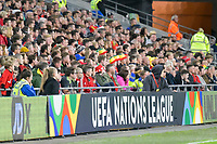 Football - 2018 / 2019 UEFA Nations League B - Group Four: Wales vs. Republic of Ireland<br /> <br /> Crowd watch behind hoarding for UEFA NATIONS LEAGUE , at Cardiff City Stadium.<br /> <br /> COLORSPORT/WINSTON BYNORTH