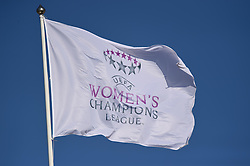 UEFA flag over Ashton Gate - Photo mandatory by-line: Paul Knight/JMP - Mobile: 07966 386802 - 21/03/2015 - SPORT - Football - Bristol - Ashton Gate Stadium - Bristol Academy v FFC Frankfurt - UEFA Women's Champions League