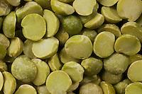 Dry split green peas.