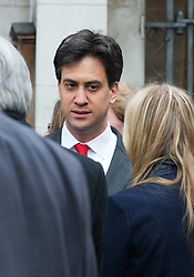 Ed Miliband the Leader of the Labour Party attends Tony Benn's funeral at St Margaret's Church, Central London, London, United Kingdom. Thursday, 27th March 2014. Picture by Nils Jorgensen / i-Images