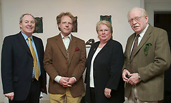 Pictured at the opening of an exhibition of new works by John Rowland at the Custom house Studios <br />from left Michael Ring (T.D.), John Rowland (Artist),<br />Margaret Adams (Chairperson Westport Town Council)   and Don Rowland. Michael Ring performed the official opening,the exhibition runs until the 15th December)<br /><br />Pic Conor McKeown.