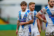 Workington Town scrum half Carl Forber (7)  during the Betfred League 1 match between Keighley Cougars and Workington Town at Cougar Park, Keighley, United Kingdom on 18 February 2018. Picture by Simon Davies.