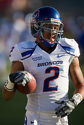 Sep. 18, 2009; Fresno, CA, USA; Boise State Broncos wide receiver Austin Pettis (2) before the Fresno State Bulldogs  game at Bulldog Stadium.