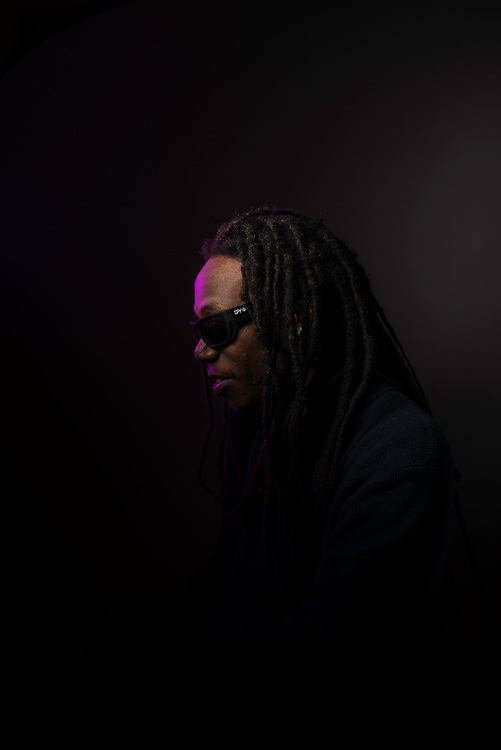 LANHAM, MD -- NOVEMBER 08, 2017: The legacy of P-Funk. At home with Garrett Shider. Garrett Shider is the son of the late Garry Shider, who is best known as the guy who wore a diaper—and nothing else—onstage as a member of George Clinton's Parliament Funkadelic. Garrett is now touring worldwide as a member of Parliament Funkadelic, playing guitar and singing vocals on several P-Funk classics.…. (photo by Andre Chung for The Washington Post)