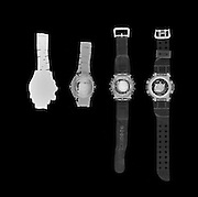 X-ray photography of wrist watches and strap