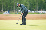 Lee Slattery (ENG) putts for birdie on the 11th green during the second round of the Aberdeen Standard Investments Scottish Open at The Renaissance Club, North Berwick, Scotland on 12 July 2019.