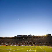 A general view of the field and stands following the game at Harvard Stadium on May 17, 2014 in Boston, Massachuttes. (Photo by Elan Kawesch)