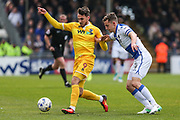 Millwall's Lee Gregory(9) under pressure from Bristol Rovers Tom Lockyer(4) during the EFL Sky Bet League 1 match between Bristol Rovers and Millwall at the Memorial Stadium, Bristol, England on 30 April 2017. Photo by Shane Healey.