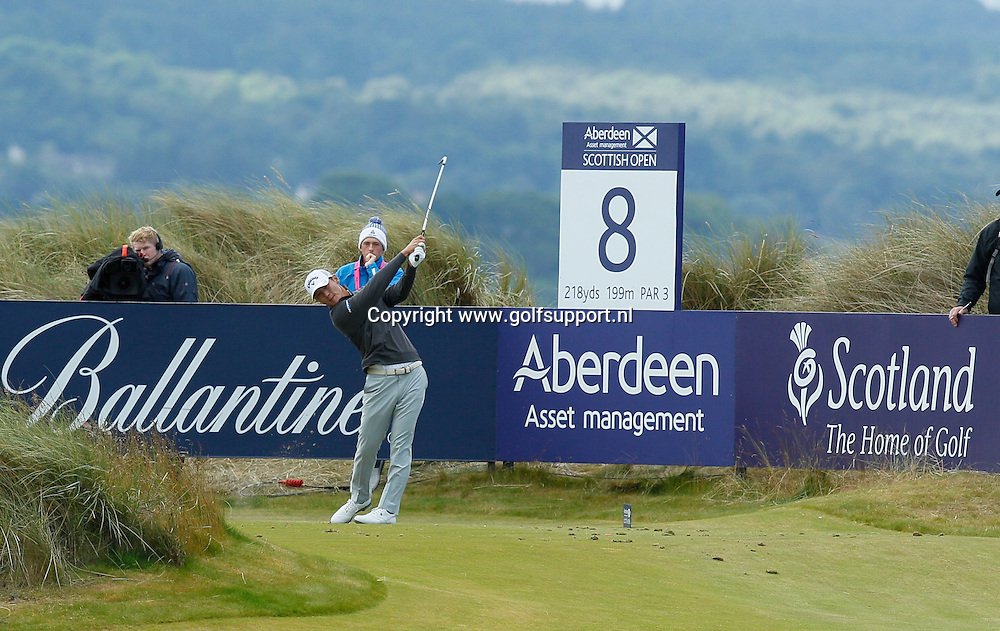 08-07-16 European Tour 2016, Aberdeen Asset Management Scottish Open, Castle Stuart Golf Links, Inverness, Scotland, UK. 07 - 10 Jul. Danny  Lee of New Zealand  during the second round.
