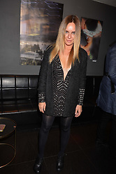 Candace McAdams at an exhibition of photographs by Erica Bergsmeds held at The Den, 100 Wardour Street, London England. 19 January 2017.