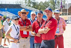 KLAPHAKE Laura (GER), KLAPHAKE Josef (Trainer), BECKER Otto (Bundestrainer), TEBBEL Rene (Trainer)<br /> Tryon - FEI World Equestrian Games™ 2018<br /> Parcoursbesichtigung<br /> 2. Qualifikation Teamwertung 2. Runde<br /> 21. September 2018<br /> © www.sportfotos-lafrentz.de/Stefan Lafrentz