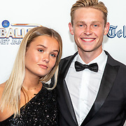 NLD/Hilversum/20190902 - Voetballer van het jaar gala 2019, Matthijs de Ligt en partner Annekee Molenaar