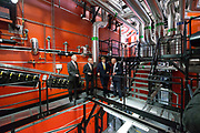 Koning Willem Alexander opent BioWarmteCentrale De Purmer. De centrale van Stadsverwarming Purmerend (SVP) wordt gestookt op houtsnippers<br /> <br /> King Willem Alexander opens Bio Heating Station The Purmer. The central district heating is for Purmerend (SVP) <br /> <br /> Op de foto:  Koning Willem Alexander krijgt een rondleiding door de centrale / King Willem Alexander gets a tour in the plant / heating central